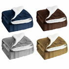 Sherpa Flannel Fleece Blanket Soft Plush Warm Thickened Bed Sofa Twin Throw US image