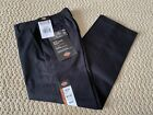 NWT Boy's Dickies 56362 Black Reinforced Knee Classic Fit Straight Leg Pants 6 7