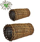 NATURE FIRST NATURAL SMALL ANIMAL WILLOW TUBE HIDE PLAY TUNNEL HUTCH TOY 2 SIZES