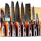8 sets of 3.5-7-8-inch Japanese laser kitchen knife, Damascus knife, chef