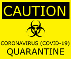 CAUTION VIRUS INFECTION DECAL SAFETY SIGN STICKER 3M VINYL USA MADE