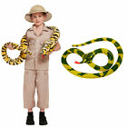 Children Boys Safari Explorer Costume With Snake Fancy Dress Jungle Zoo Outfit