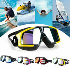 New Silicone Diving Mask Large Frame Swim Glasses Swimming Goggles Anti-fog