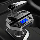 Bluetooth 5.0 Handsfree Car FM Transmitter MP3 Player Dual USB Quick Charge 3.0A
