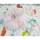 1 Pc Teether Toy New Born Gift Wooden Handmade Baby Teething Ring Rainbow