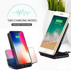 Foldable Qi Wireless Charger Fast Charging Stand For iPhone 8 10 Plus XR XS Max