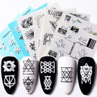 5D Nail Water Stickers Flower Totem Transfer Decals Nail Art Decoration Paper