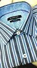 NWT Bugatchi men's Small long sleeve button down shirt,striped pattern shapedfit
