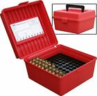 MTM Case-Gard Deluxe R-100 Series Small Rifle Ammo Box, 100 Rounds
