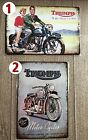 TRIUMPH CLASSIC MOTORCYCLE TIN SIGNS 210 X 297 (A4) $12.99 AUD on eBay