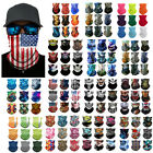 Bandana Tube Scarf Face Cover Neck Gaiter Headband for Motorcycle Outdoor Sports