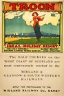 Troon Golf Seaside View  Vintage Deco Railway/Travel Poster Various Sizes