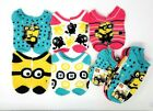 Despicable ME3 Girls No Show Socks 5-Pair