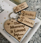 PERSONALISED GIFTS FOR HIM FATHER'S DAY GIFT DADDY DAD GRANDAD HEART KEYRING