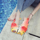 UNISEX Fish Slippers Sandals Funny Beach Flip Flops Holiday Vacation Shoes EU47