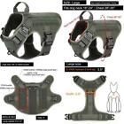 Icefang Tactical Dog Harness,K9 Working Dog Vest,No Pulling Front Clip Leash Att