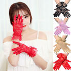 1 Pairs Sexy Lace Wrist Length Gloves w/ Ruffle Bride Wedding Prom Anti UV New