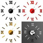 Modern DIY Wall Clock 3D Mirror Surface Stickers Removable Home Office Decor