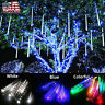 Meteor Shower Falling Star Rain Drop Icicle Snow LED Party Tree String Light