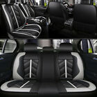 5 Car Seat Covers Full Set w/ Waterproof Leather Universal for Sedan SUV Truck