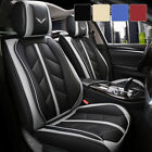 5 Car Seat Covers Full Set w/ Waterproof Leather Universal for Sedan SUV Truck $116.99 USD on eBay