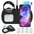 3in1 Qi Wireless Fast Charger Dock Stand Watch For iWatch iPhone X Xs XR 11 MAX