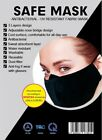 2/6-pck Washable Reusable Fabric Breathable Filter Cloth Unisex Adult Face Mask