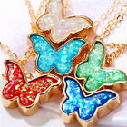 Cute Butterfly Pendant Necklace Women Gold Color Chain Statement Charm Jewelry.