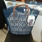NWT MILAGROS BLUE LACE TOTE PURSE image