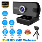 1080P Full HD USB Webcam for PC Desktop  Laptop Web Camera with Microphone