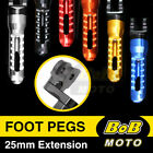 Front Rider Foot Pegs 25mm Adjustable For Triumph Speed Triple 955i 1050 $42.56 USD on eBay