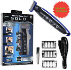Men Micro Touch SOLO Rechargeable Trimmer Razor Shaver Edges W/ 3 PCS Combs Gift $14.99 USD on eBay