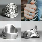 Vintage 925 Silver Stay Wild Moon Child Ring Women Wedding Jewelry Gift Sz 5-10