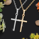 Gold Cross Pendant 925 Sterling Silver Chain Necklace Womens Jewellery Gifts Uk