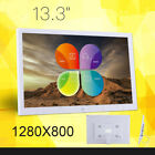 "13.3"" HD LED Digital Photo Picture Frame Clock/MP4/Video/Player Remote Control"