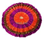 Multi Color Belly Dancing Skirt 25-32 Yard 4 Tiered One Flyer GYPSY Skirt Tribal