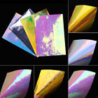 Holographics Nail Foil Vinyls Hollow Stencil Mixed Nail Transfer Sticker Paper