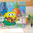 SpongeBob SquarePants Shower Curtain Waterproof Bath Curtains with 12 Hooks