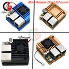 For NanoPi R2SMini Router Dual Ethernet Ports Power Supply Board with Case