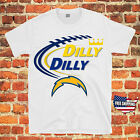 Los Angeles Chargers Bud Light DILLY DILLY NFL Jersey Men Beer T Shirt Fans Tee $13.75 USD on eBay