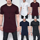 Men Slim Fit Short Sleeve Muscle T-Shirt Basic Tee Summer Casual Longline Tops image