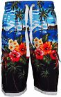 Men's Hawaiian Summer Beach Tree Printed Swimming Shorts