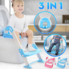 3 in 1 Kids Baby Potty Training Seat Todder Toilet Trainer Chair W/ Ladder Stool image