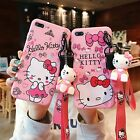 3D Cute Cartoon Hello Kitty Doll Stand Strap Case Cover for Samsung Note 10 S20+