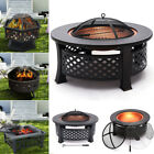 3In1 Outdoor Metal Fire Pit Chimenea Brazier BBQ Heater Ice Pit For Garden Patio