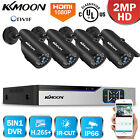 LOT KKMoon 4/8CH 5In1 DVR 1080P CCTV Outdoor Security IR Camera System Kit Onvif