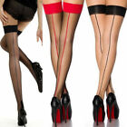 Thigh High Stockings Back-Seam Cuban High Heels Tights Hosiery for Suspender