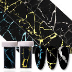 Laser Marble Texture Nail Foils Transfer Stickers Nail Tips Decoration Decals