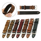 18mm 20mm 22mm 24mm Vintage Hand-Stitched Leather Watch Band Strap W/ Stitching image
