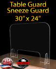 Sneeze Guard Protective Shield Table Counter 30' x 24' Store & Office & Salon